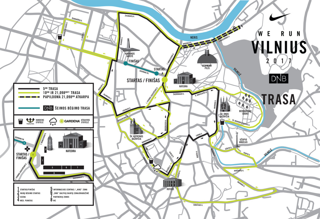 WE RUN Vilnius trasa